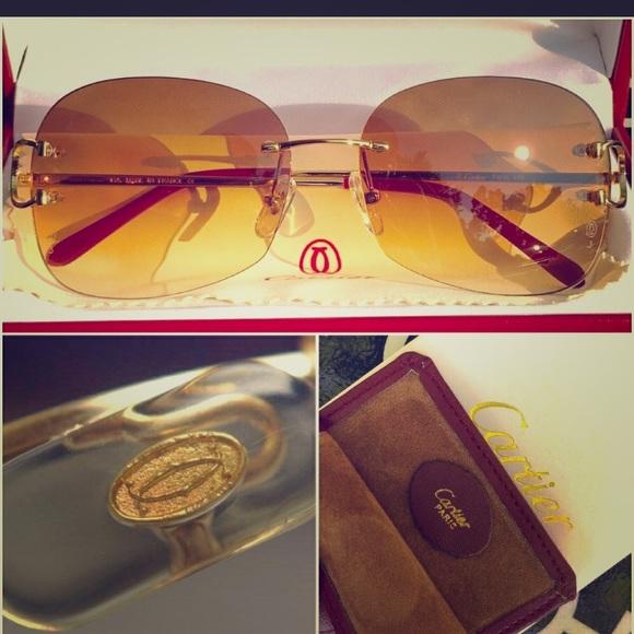 7ce7160e7c6 Cartier Gold Wire Sunglasses